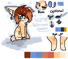 Numas SECOND Look Reference Sheet by snickIett