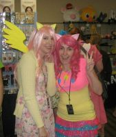 Fluttershy and Pinkie Pie by MishaCosplay