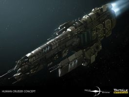 Human Cruiser Concept by AdamBurn