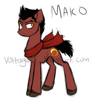 Mako pony by Voltage-X