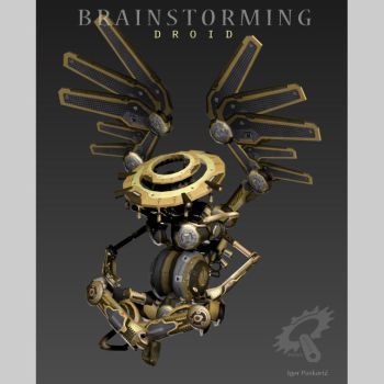 Brainstorming Droid by Iggy-design