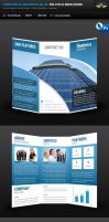 Corporate Business Blue Tri-Fold Brochure by Saptarang