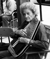 THE OLD AUTO HARP LADY by uncledave