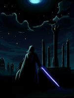 Darth Vader overlooking by Raikoh-illust