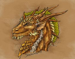 Bronze dragon. by Eva-the-DragonLady