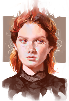 Red haired chic by Vetyr