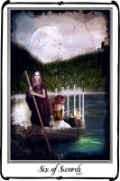 Tarot - Six of Swords by azurylipfe