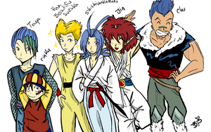 YYH six fighters by loveforkuja
