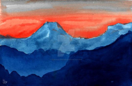 Mountains watercolor practice by thevoicessneezed23