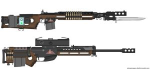 Saltwork - USBN Defense Systems M14 and WA2000 by caiobrazil