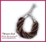 Brown And Pink Bracelet by BB-Butterfly