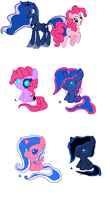 Luna x Pinkie ..:Free Adopts:.. [CLOSED] by Starleay120