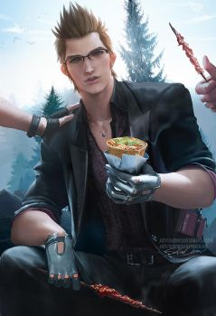 Ignis taste test .nsfw optional. by sakimichan