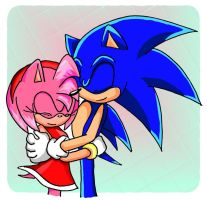 SonAmy: Hug me by amy2sa-fan