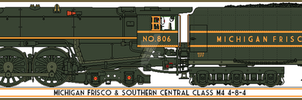 Michigan, Frisco and Southern Central M4 Class by Lapeer