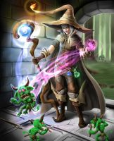 Dungeon male Mage by SandroFujin