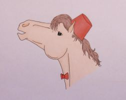 11th Doctor horse with Fez and Bowtie by ponyhallo1