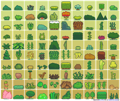 100 Plant Sprites by Neorice by Neoriceisgood