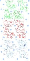 Christmas Ponies adopted and opened!!! by meg15warrior