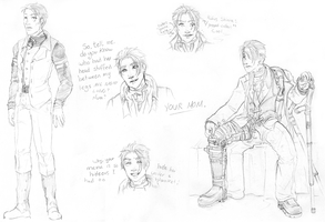 Rufus Shinra Doodles by CelebrenIthil