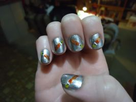 Gokudera Inspired Nails-Right by pockyXbandit