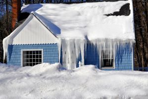 the icicles at Bardwells got a little out of hand by FlowerFreak