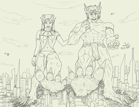Gods Of Rampage  -Lines- by CrushSweet