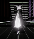 Black and White dress - MMD DL - by LizzyVolti