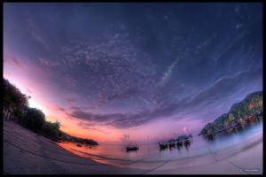 DSC00051h - Koh Phi Phi, Thailand, at the sunrise by ookamedias