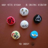 Harry Potter Keychain or Christmas Decoration by Tofe-lai
