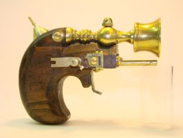 Steampunk Derringer side view by OliverBrig
