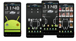 Carbon Fiber and Stainless Steel Android Theme by dberm22