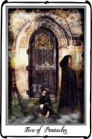 Tarot-Five of Pentacles by azurylipfe