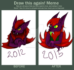 Redraw again!! meme by DasterEndermanalbino