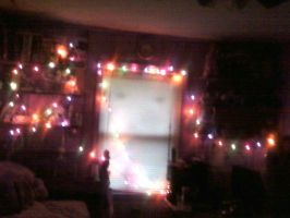 mai room in x-mas lights by biggywoot