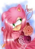 Amy with Flowers by Cruchiecat