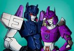 femOverlord and  femGalvatron by Guard-of-Minasteris