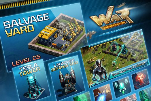 War Inc. GUI and 3D Works by nasar-ullah-khan