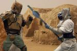 Mandalorian Cyrus Rang vs. Tusken Raider by Fired13