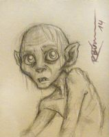 Gollum sketch by CaptBexx