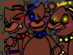 (FnaF4) Roxx, Iris and Bumble: Nightmare Triplets by YaoiLover113
