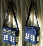 Sac inspiration TARDIS Dr. Who by Emillye