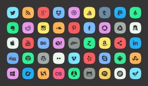 45 Subtle Social Icons by freebiespsd