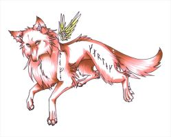 Runic wolf by Sugarcup91