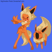 Flareon Anthro Girl by Dinalfos5