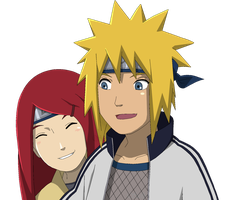 Minato and Kushina - Lineart Colored by DennisStelly