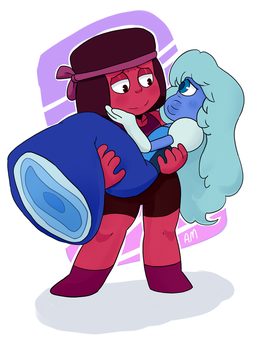 Ruby and Sapphire by AngeliccMadness