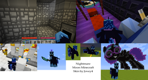 Nightmare Moon Minecraft Skin Screencaps by Jovey4