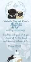 40th anniversary invite by therealbloodhound
