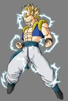 Adult Gotenks SSJ2 by theothersmen